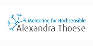 Logo und Verlinkung von Alexandra Thoese - Mentoring für Hochsensible